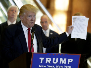 Trump Lashes Out At Media While Detailing Vets Fundraiser