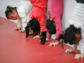 Young Chinese Children Train for Future Olympics