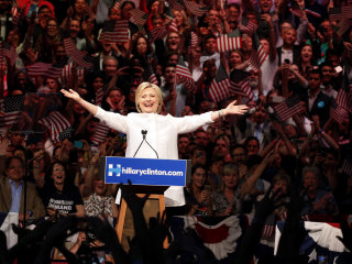 Hillary Clinton Becomes First Female Nominee of Major U.S. Political Party