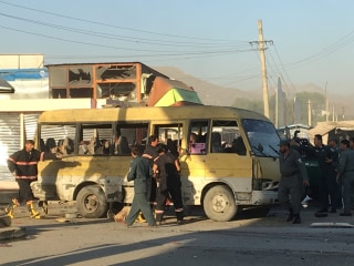 Minibus Suicide Explosion Kills 12 Security Guards in Kabul
