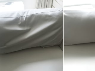 Take your sofa cushions from frumpy to firm with this 3-step trick