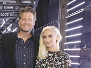 Gwen Stefani Helps Blake Shelton Celebrate 40th in Goofy Style