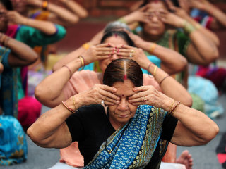 Namaste: Millions Exercise on International Yoga Day