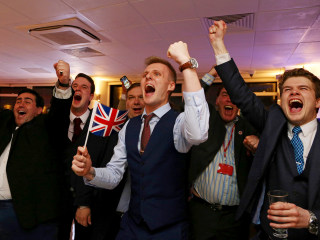 U.K. Out: Brexit Vote Met With Cheers and Shock