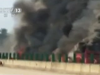 35 Killed Fire in China After Long-Distance Bus Smashes Into Guardrail