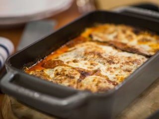Laura Vitale serves up cheesy, delicious chicken parm and eggplant parm