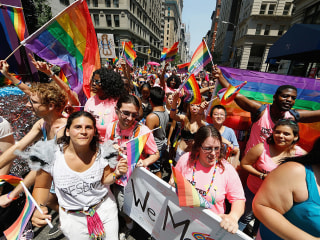 NYC Gay Pride March Celebrates and Pays Tribute