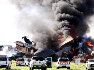 Remains Found in Fiery Texas Freight Train Collision