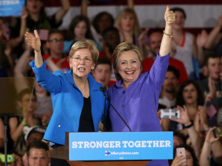 Elizabeth Warren Most Likely VP Pick to Get Dems to Pony Up for Clinton