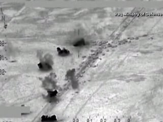 U.S. and Iraq Airstrikes Target Alleged ISIS Convoy