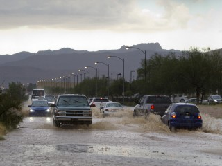 Six People Rescued From Racing Floodwaters in Las Vegas Area