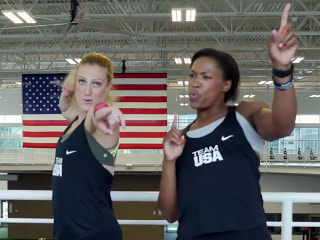 Pure Gold! Watch Team USA Jam to Justin Timberlake's 'Can't Stop the Feeling'