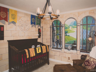 Parents create a magical Harry Potter themed nursery