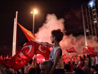 Supporters Rally For Erdogan After Failed Military Coup