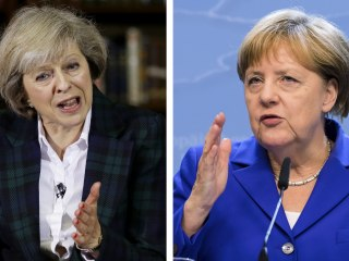 Britain's May and Germany's Merkel Discuss Brexit Fallout