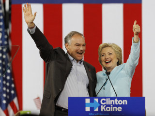 The Clinton-Kaine Ticket Makes Its Debut in Miami