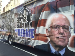 'Black Men For Bernie' Supporters Rally in Philadelphia