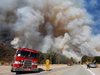 Mass Evacuation Order in Effect as California Wildfire Nearly Doubles in Size