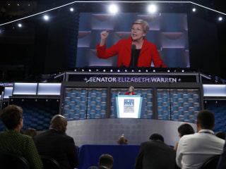 Elizabeth Warren Digs Into Trump's Values, 'Stupid' Wall