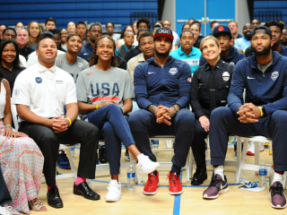 Carmelo Anthony Gathers Athletes, Cops, Kids in Conversation