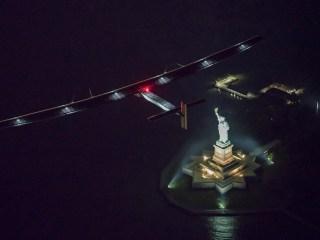 Pyramids and Lady Liberty: Solar Plane Circles the Globe