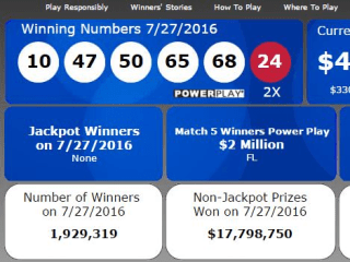 Powerball Jackpot to Hit $478 Million, Will Be 8th Biggest in U.S. History