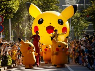 Pikachus Parade Through Pokemon Festival