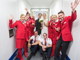 A Surprise Proposal on Plane — and Then an In-Flight Wedding