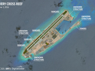 South China Sea Dispute: CSIS Says Satellite Images Show China Reinforced Spratly Hangars