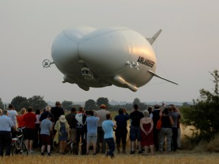 Airlander 10, World's Largest Airship Dubbed 'Flying Bum,' Takes Maiden Voyage