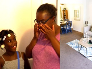 Watch single mom's emotional reaction to her furnished home after being homeless
