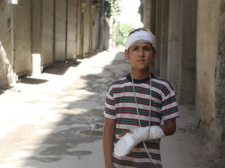 Yahya, 11, Wounded in Airstrike Now Wants to Be a Doctor