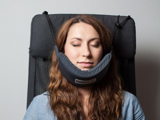 'Head Hammock' Neck Pillow Promises You'll Finally Sleep on a Plane
