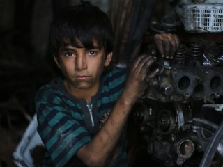 Aleppo's Mohamad, 11, Traded Schoolbooks for Mechanic Work
