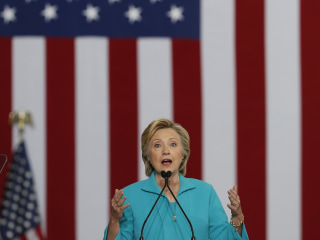 Hillary Clinton Tries to Drive Racial Wedge Between Trump and GOP