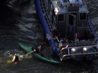 Kayakers Hit by Ferry, Rescued From Hudson River by New York Cops
