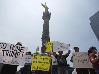 'Not Welcome Here': No Love for Trump on Mexico City Streets