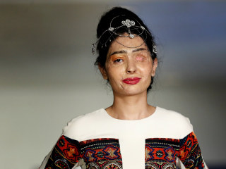India Acid Attack Survivor Walks Runway at N.Y. Fashion Week