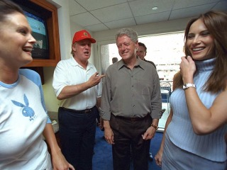 Trump, Bill Clinton Laugh It Up in Newly Released Photos