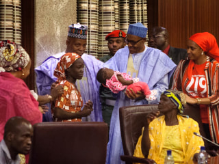 #BringBackOurGirls: Freed Boko Haram Captive Meets Nigerian President