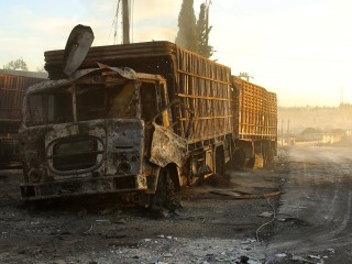 Syria Crisis: Aid Convoy in Uram al-Kubra Near Aleppo Is Hit by Airstrikes