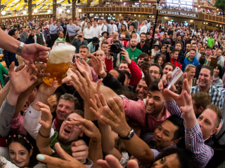 Prost! Beer Flows at Germany's Oktoberfest