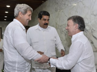 John Kerry Meets With Venezuela Pres. Maduro in Colombia