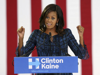 Michelle Obama Rallies Youth for Clinton; Slams Birtherism