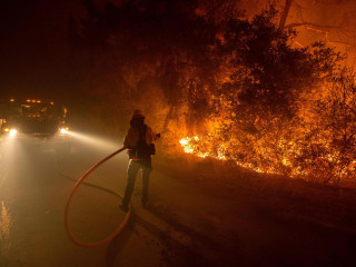 Wildfire Chews Through California's Santa Cruz Mountains