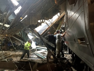 Rush Hour Train Crashes into Hoboken Train Station