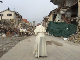 Pope Francis Visits Italy's Earthquake-Hit Town of Amatrice