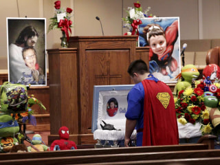 Superheroes Honor 6-Year-Old Shooting Victim at Touching Funeral