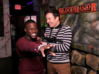 Jimmy Fallon and Kevin Hart's Walk Through Haunted House Is Scary Funny