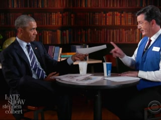 Obama's Funniest Moments From 'Mock Interview' With Colbert